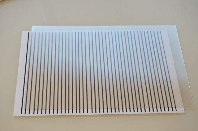 61LPI Lente Lenticular, tamaño A4 (horizontal) para imágenes con cierre magnético