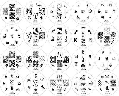 Winstonia 20pc Nail Art Stamp Stamping Image Plates Set Manicure Stencil 1st Gen