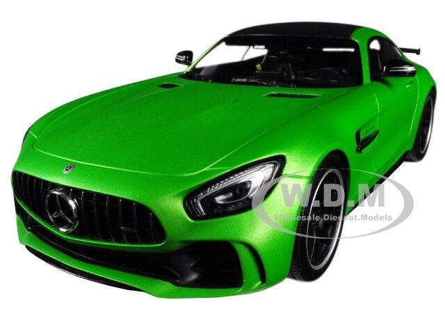 2017 Mercedes AMG GT-R verde con tapa negra limitado 720 piezas 1 18 Minichamps 155036020