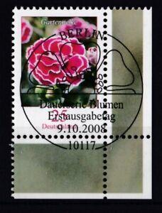 BRD-2008-gestempelt-ESST-MiNr-2694-Freimarke-Blumen-Gartennelke