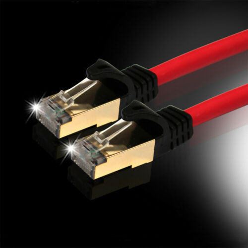 NX-Rremium Cat7 Ethernet S-STP Network Direct LAN Cable 26AWG 10Gbps