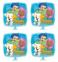 4x Bubble Guppies 18 Foil Balloon Birthday Decorations Party Favor Supply