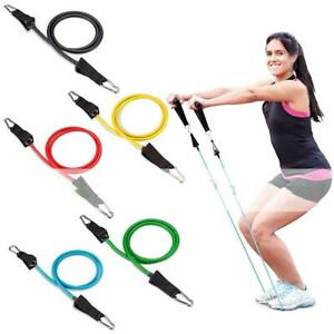 11 Piece Resistance Band Set Yoga Pilates Abs Workout Fitness Tube Workout Band