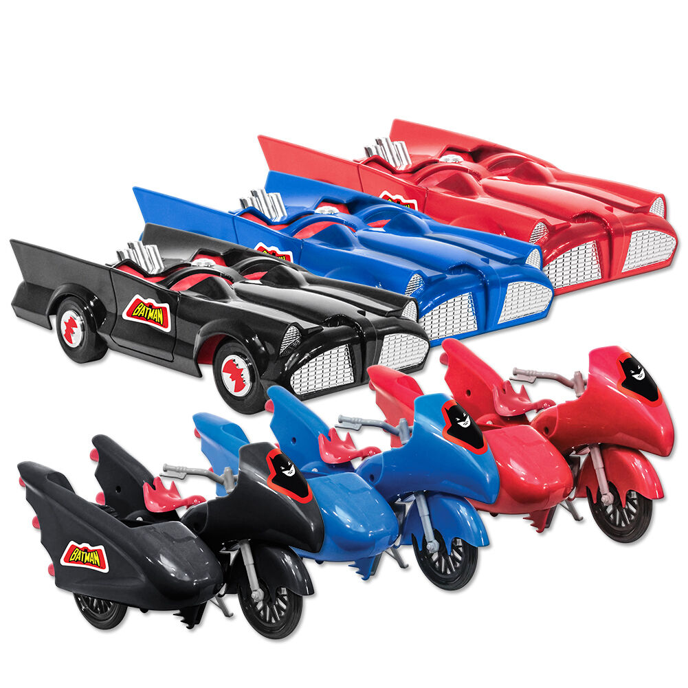 DC Comics Retro Batman Batcycle & Baymobile Playsets  Set of all 6 by FTC