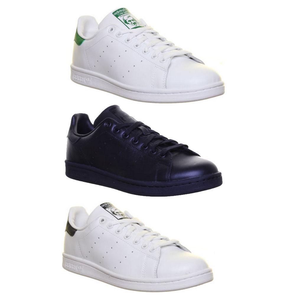 Adidas Originals Stan Smith Herren Lederschuhe Schnursenkel Sneaker EU GroBe