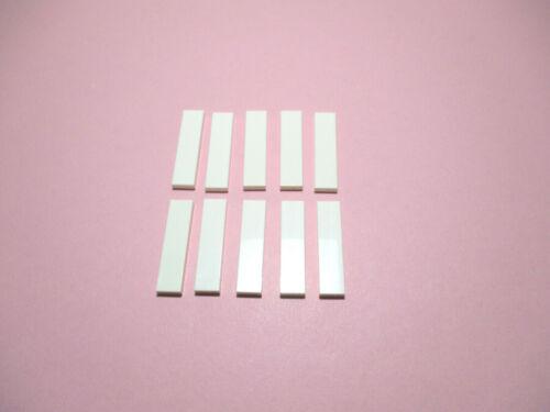 LEGO City Basic  Fliesen 1 x 4 Weiss  10 Stück   #  2431 Neu