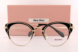e26698f29d Brand New Miu Miu Eyeglass Frames MU 52PV 1AB Black For Women Size ...