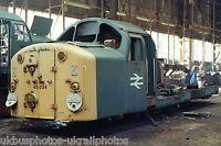 British Rail Class 40 40024 Cab End Crewe works melt shop 13/10/85 Rail Photo b