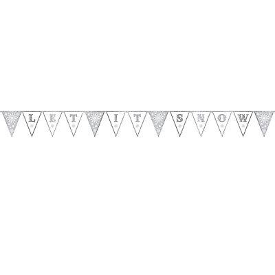 Motivata Nuovo Let It Snow Pennant Banner 3.6m- A Tutti I Costi