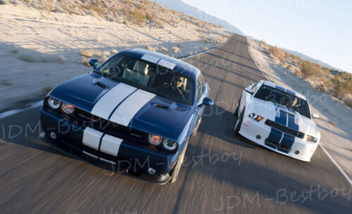 "2008-2013 Dodge Challenger 8/"" Rally Racing Stripes Decal Sticker Vinyl Wrap"