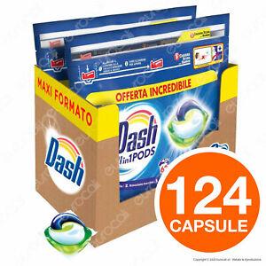 124 Pastiglie Dash Pods Classico All in 1 Detersivo Lavaggi Lavatrice in Capsule