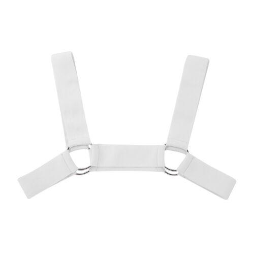 Men Chest Harness Belt Fancy Dress Strap Costume Metal O-rings  X-Shape Wear