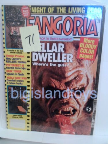 Fangoria Horror Magazine 7 30 33 37 43 71 81 92 94 110 121 133 MULTI-LISTING