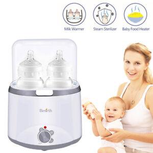 2-Bottle-Electric-Steam-Steriliser-Set-Baby-Bottles-Warmer-Breastmilk-Heater