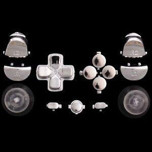 Sticks-Tasten-Button-Knoepfe-Set-Mod-Kit-fuer-PS4-Controller-chrom-silber