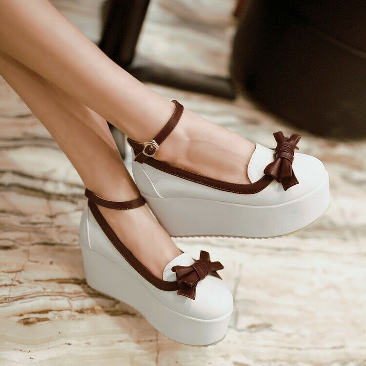 Spring Summer Womens Womens Womens Platform shoes Pumps Trendy Buckle Strap High Heels shoes 0cedc3
