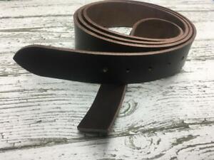 Ledergürtel Ohne Schnalle Wechselgürtel Dunkelbraun Dickleder 3,8 mm Made in DE
