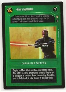 Star Wars CCG Reflections III 3 Premium Qui Gons Lightsaber