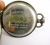 Omega Grand Prix Paris 1900 pocket watch 800 Silver Case