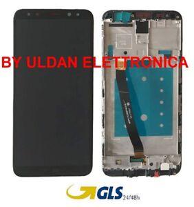 TOUCH-SCREEN-VETRO-LCD-DISPLAY-FRAME-Per-HUAWEI-MATE-10-LITE-RNE-L21-L01-NERO