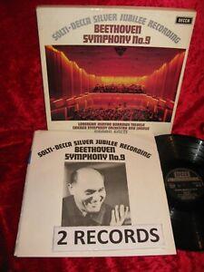 1970 UK EXC+ 2LP DECCA 6BB 121/2 STEREO  BETHOVEN SYMPHONY 9 SOLTI