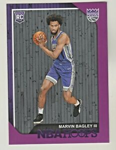 2018-19-Panini-Hoops-PURPLE-258-MARVIN-BAGLEY-III-RC-Rookie-Sacramento-Kings