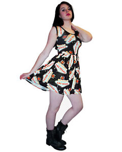 LADIES-WOMENS-NEW-LAS-VEGAS-USA-ROCKABILLY-SWING-50-039-S-PARTY-PROM-DRESS-GOTH-PUNK