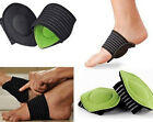 SHUS 2Pcs Elastic Soft Cushioned Arch Supports Relief for Achy Feet Foot Health