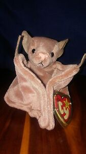 Batty Beanie Baby Ty 1996 hang tag 1997 tush tag - Retired - Errors ... d1f5c7090
