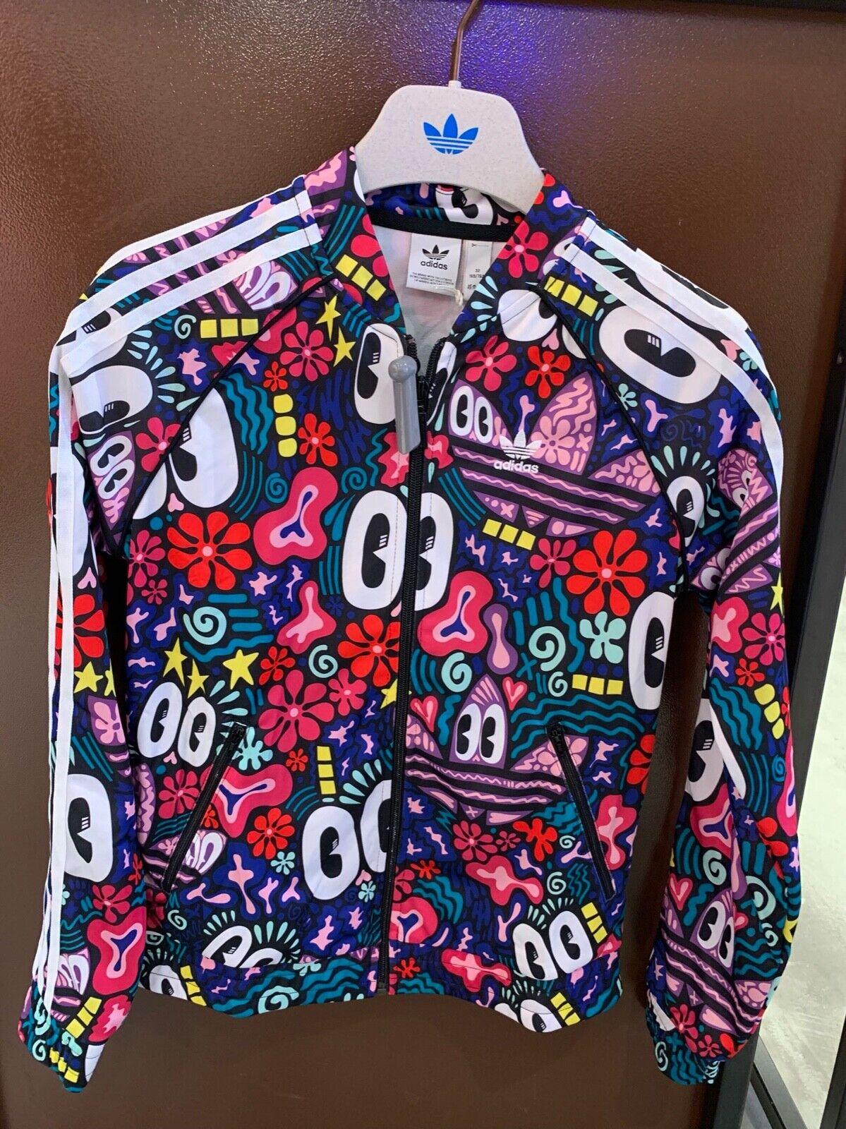 Fortaleza Curiosidad Color rosa  Adidas Originals Women's HATTIE STEWART Farm Firebird Track Top Jacket Eyes  | eBay