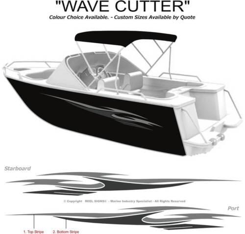 BOAT GRAPHICS  DECAL STICKER KIT WAVE CUTTER -1800 MARINE CAST VINYL