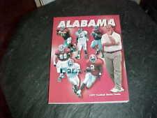 1997 Alabama Crimson Tide Football Media Guide