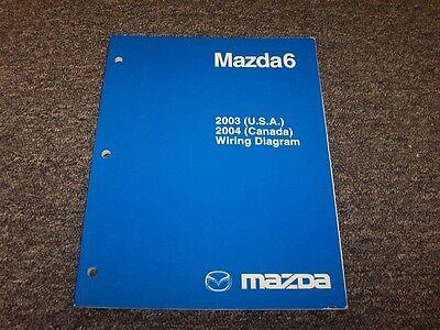 2003 Mazda 6 Mazda6 Sedan Electrical    Wiring       Diagram    Manual