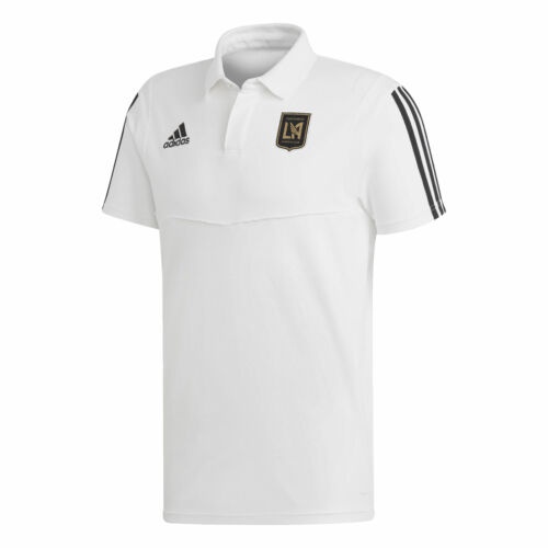 Los Angeles FC Coaches Short Sleeve Polo T-Shirt Top Mens White