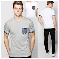 NEW MENS BRAVE SOUL CASUAL CONTRAST PRINT POCKET T-SHIRT SHORT SLEEVE CASUAL TOP