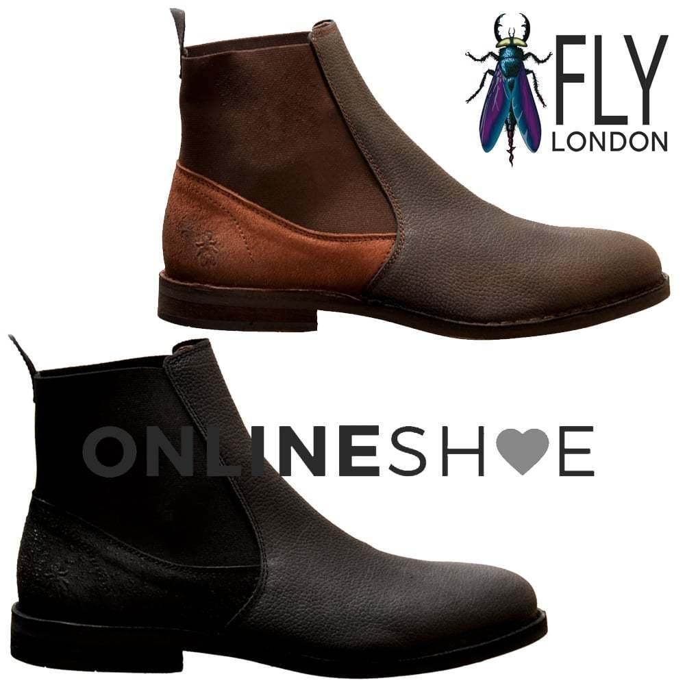 FLY London Da Uomo WACK Pelle 908fl Solero/Scratch COMPLETO in Pelle WACK Chelsea Boot uk8-uk12 NUOVO e2c82f