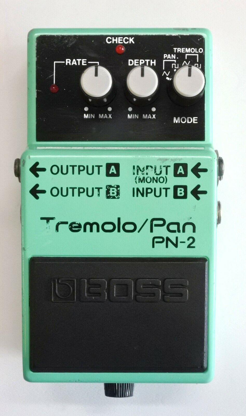 BOSS PN-2 Tremolo Pan Guitar Effects Pedal 1990  40 Free Shipping