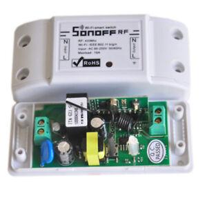 Sonoff 433Mhz RF WiFi Wireless Smart Switch Receiver Remote Control Home