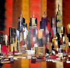 Mega New York City Abstract Painting/ High Quality Canvas home wall art & Decor