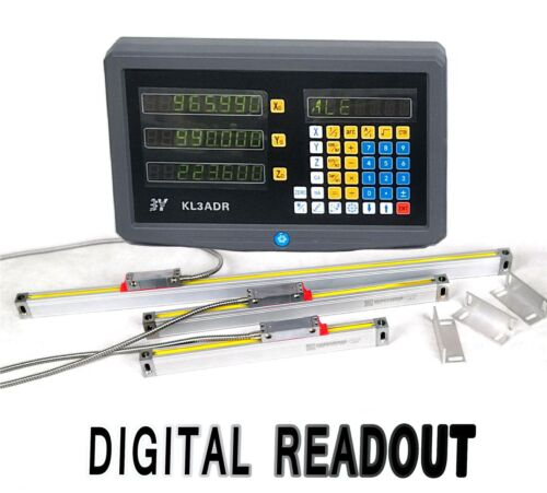 2 Axis//3 Axis Digital Readout Linear Glass Scale TTL DRO Display Milling Lathe