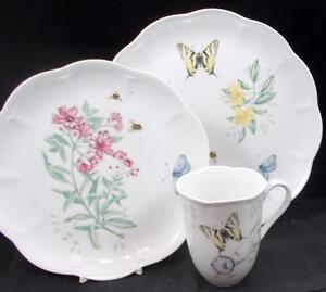 Lenox-China-BUTTERFLY-MEADOW-Trio-Swallowtail-GREAT-CONDITION