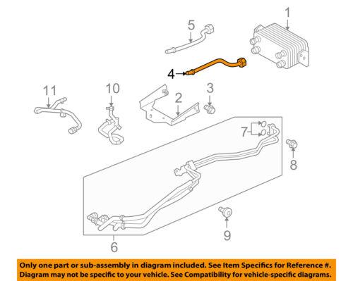 LAND ROVER OEM Range Rover Sport Transmission Oil Cooler-Inlet tube LR078964