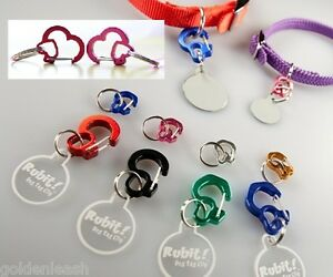 Rubit-Dog-Tag-Clip-USA-Seller-Quick-Release-Tag-Holder-Curve-amp-Heart-Pet-Cat