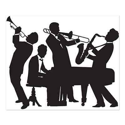 Large MARDI GRAS Gatsby GREAT 20'S JAZZ BAND Party Decoration PHOTO PROP
