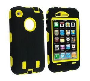 Apple-iPhone-4-4S-Shockproof-Rugged-Defend-Hybrid-Case-w-Screen-Protector-NEW