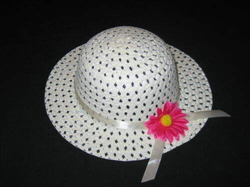 "NEW /""IVORY DAISY/"" Dress Up Party Girls Easter Straw Hat Clothes Toddler Kid Tea"