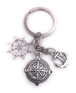 Anker Schlüsselanhänger Anhänger Silber aus Metall