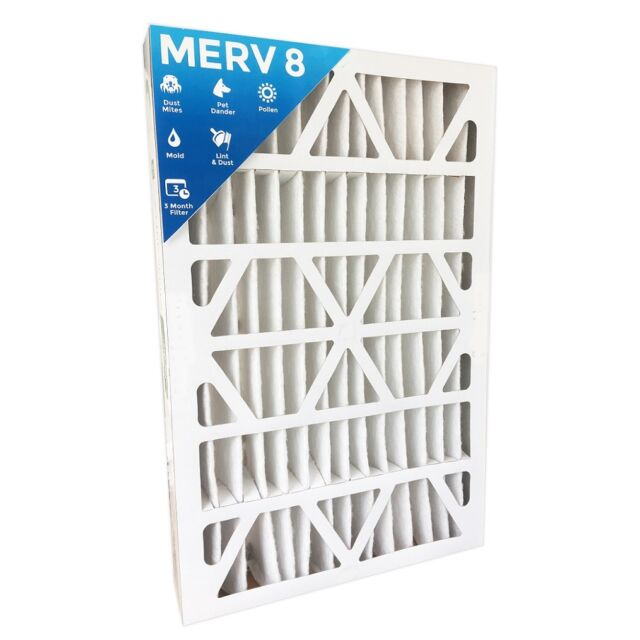 Nordic Pure 16x24x4 3-5//8 Actual Depth MERV 7 Pleated AC Furnace Air Filters 6 Pack