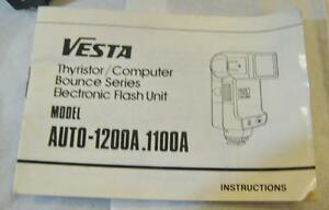 VESTA Computer Auto 1100A Flash working w/Cable, Filter and Manual
