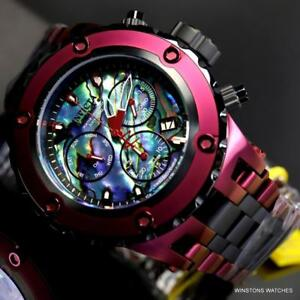 Invicta-Reserve-Specialty-Subaqua-Abalone-Burgandy-Swiss-Mvt-Steel-Watch-New